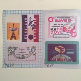 Vintage labels & Stickers, set van 3 bladen.