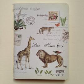 Mooi vintage schriftje met prachtige oude dieren tekeningen