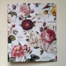 *** UITVERKOCHT *** Multomap met vintage rozen design.