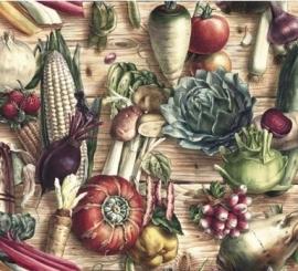 Prachtig decor papier met botanische tekeningen, voor vele toepassingen