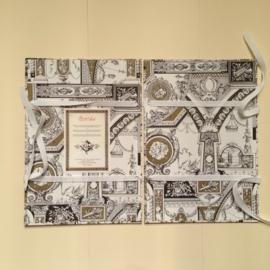 Handgemaakte bewaarmap met ornamenten design