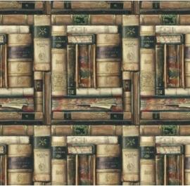 Prachtig decor papier met antieke boeken print voor vele toepassingen