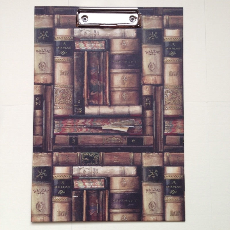 Klembord met antieke boekendesign
