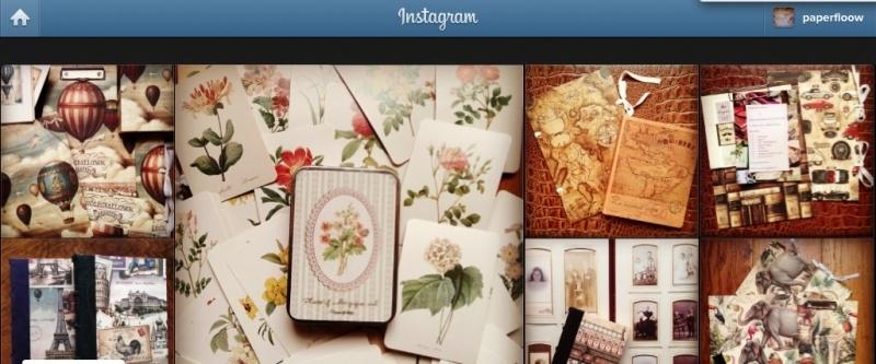 Visueel blog op Instagram.