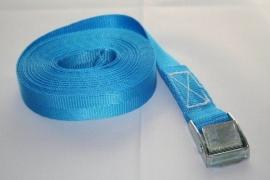 Bagagegordel eindloos 25 mm 300 kg blauw