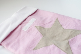 stoere ster roze/beige