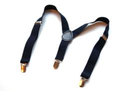 Bretels classic navy blauw