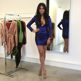 ROYAL BLUE METALLIC  DRESS By Yessey