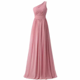 PINK ONE SHOULDER  MAXI DRESS By Yessey