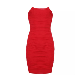 COLETTE STRAPLESS RED DRESS  By Yessey
