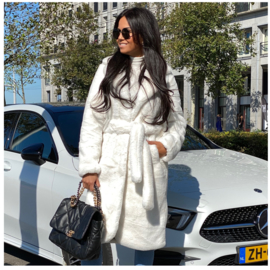 LUXURY FAUX FUR ROUND COAT  By Yessey