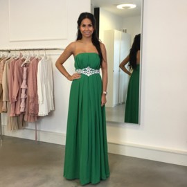GREEN STRAPLESS MAXI DRESS By Yessey