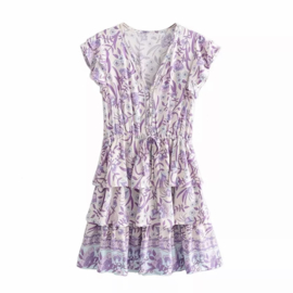 LEARN FRENCH PRINT DRESS By Yessey