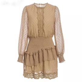 LOTTERY TAN DRESS By Yessey