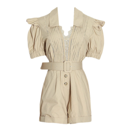 DINNER & DRINKS BEIGE PLAYSUIT By Yessey