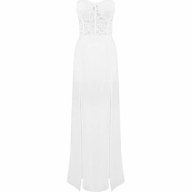 LACE OPEN LEG WHITE JUMPSUIT By Yessey