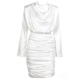 DRAPE DRESS WHITE  By Yessey