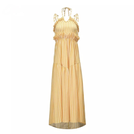 TAN LINES DRESS By Yessey