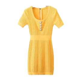 HAPPY YELLOW  DRESS By Yessey