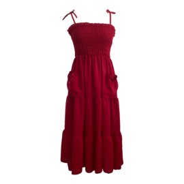 POCKET DRESS RED By Yessey