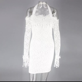 WHITE LACE DRESS By Yessey