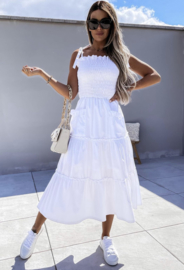 POCKET DRESS WHITE By Yessey