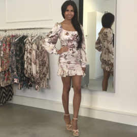 FLOWER PARADE NUDE DRESS By Yessey
