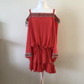FAUST Tuniek Koraal Dress  By Yessey