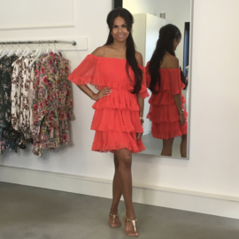 WATERMELON OFFSHOULDER DRESS By Yessey