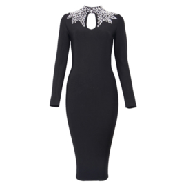 SALLIE BLACK LONG SLEEVES  DRESS  By Yessey