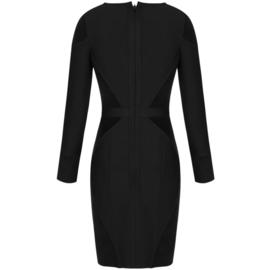 AUDEN BLACK BANDAGE DRESS By Yessey