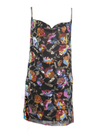 COLOR BOMB BLACK LOOSE DRESS By Yessey