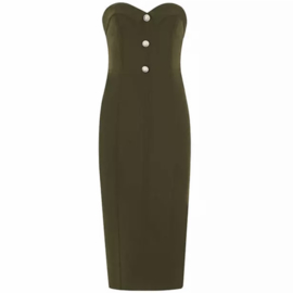 SHARNA OLIVE DRESS By Yessey