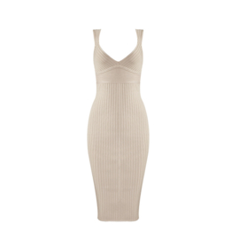 RELIEF NUDE  DRESS  By Yessey