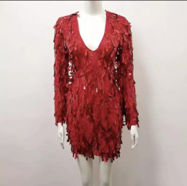 RED LEAF DRESS By Yessey
