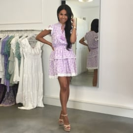 LILAC WHITE  DRESS By Yessey