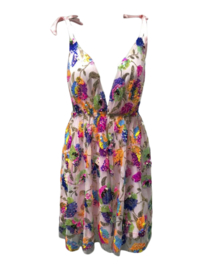 COLOR BOMB PINK DEEP-V DRESS By Yessey
