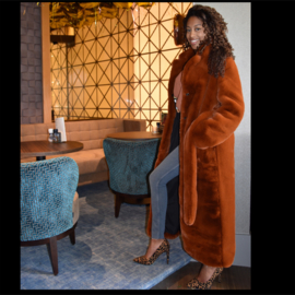 LUXURY FAUX FUR MAXI COAT  By Yessey