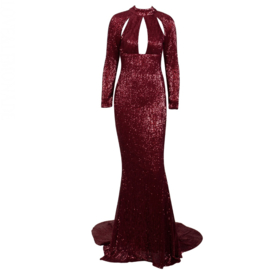 ICON BURGUNDY  MAXI DRESS By Yessey