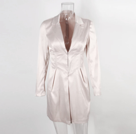 NUDE SATIN BLAZER By Yessey