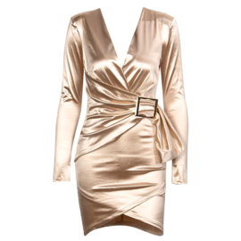 SILK CHAMPAGNE DRESS By Yessey