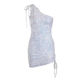 CAUGHT A SPARKLE WHITE DRESS By Yessey