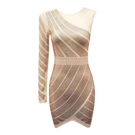 MESH ROSEGOLD DRESS By Yessey