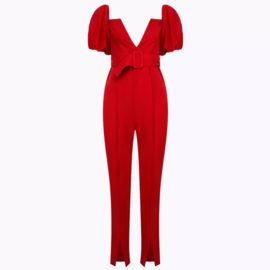 V  RED JUMPSUIT By Yessey