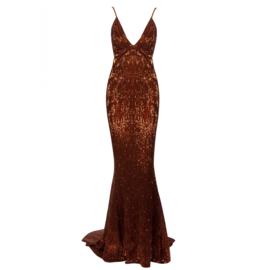 BRONZA SEQUIN DRESS By Yessey