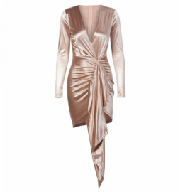 WATERFALL CHAMPAGNE DRESS By Yessey