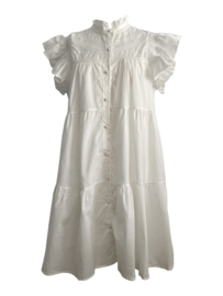 FLIRTY COTTAGE  WHITE DRESS By Yessey