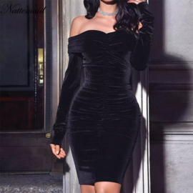 BLACK VELVET  DRESS By Yessey
