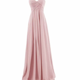 PINK STRAPLESS MAXI DRESS By Yessey