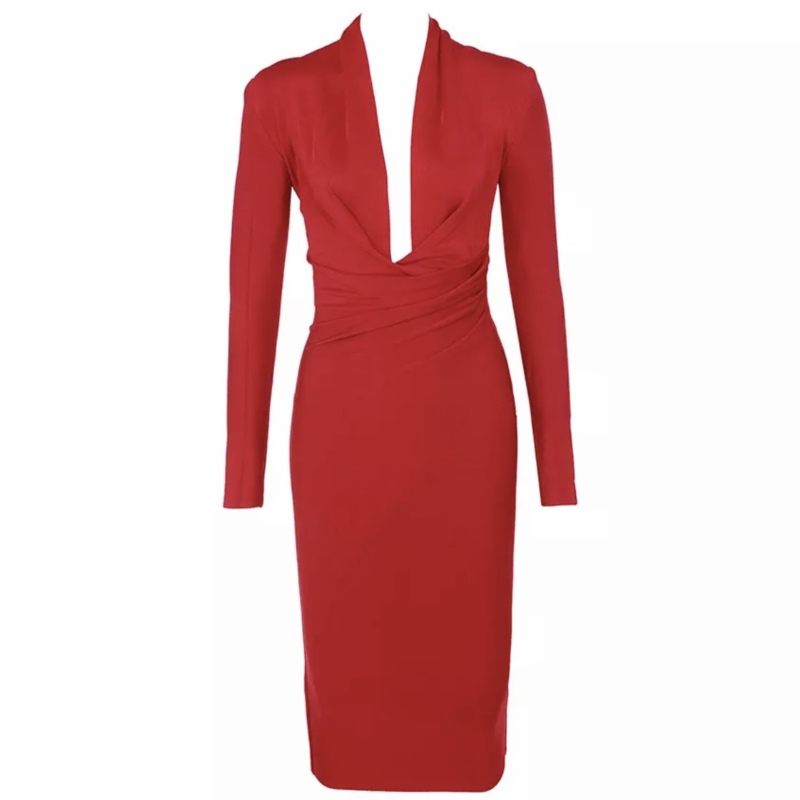 INES RED DRESS  By Yessey